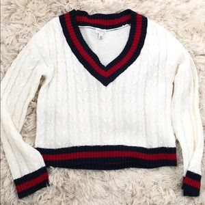 Preppy knit sweater